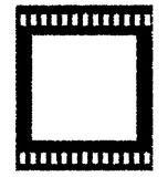 Old negative film strip. On white Royalty Free Stock Images