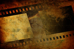 Old negative film strip Royalty Free Stock Images