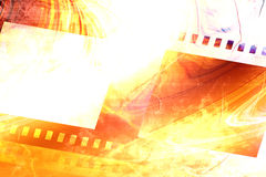 Old negative film strip Royalty Free Stock Image