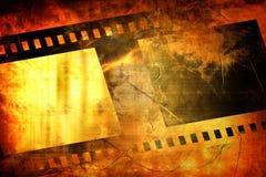 Old negative film strip. On a grunge background Stock Images