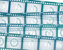 Old negative film strip Royalty Free Stock Image