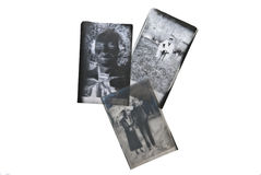Old Negatives of People. Three old negatives with candid shots of people in the 1930's-1940's royalty free stock images