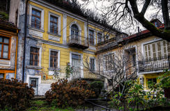 Old neoclassical building. In Florina, Greece royalty free stock photography