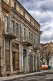 Old neoclassical building in Florina, a popular winter destination in northern Greece, on an overcast day Stock Photo