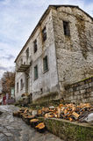Old neoclassical building in Florina, a popular winter destination in northern Greece Stock Photography