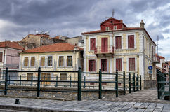 Old neoclassical buildings in Florina, a popular winter destination in northern Greece Stock Image