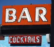 Old neon bar sign Stock Images