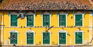 Old Nepalese house in Kathmandu Royalty Free Stock Photos
