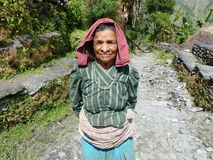 Old nepalese woman Stock Photography