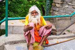Old Nepali man Stock Images