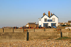 Old neptune pub on whitstable beach Stock Images