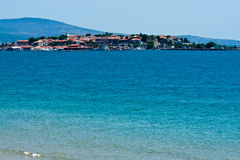 Old Nesebar island - famous resort in Bulgarian Stock Images