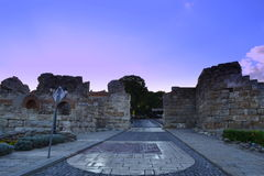 Old Town Nessebar fortified wall  Stock Photo