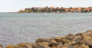 Old Nessebar from the sea, Bulgaria Royalty Free Stock Photos