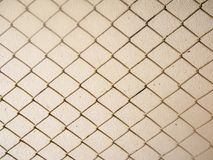 Old netting grid on cement wall. Abstract image for security Royalty Free Stock Photos