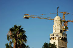 Old and New. Mosque in Old City, Jerusalem Stock Photos