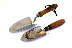 Old and New. Garden tools Royalty Free Stock Photo