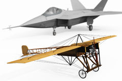 Old and new Aircraft technology Royalty Free Stock Image