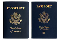 Old and new American passports Royalty Free Stock Image