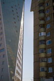 Old and New Apartment Buildings Stock Photo