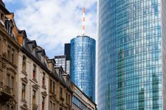 Old and new architecture. In Frankfurt, Germany Stock Photography
