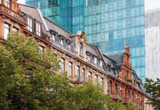 Old and new architecture in Frankfurt stock photo