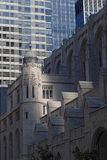 Old and new architectures in Manhattan. NEW YORK CITY, USA, September 10, 2017 : In the streets of Manhattan. Manhattan is the most densely populated borough of Royalty Free Stock Images