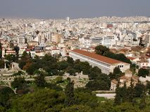 Old and new - Athens, Greece royalty free stock images