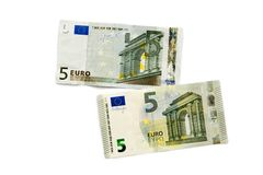 Old and new banknote Royalty Free Stock Photography