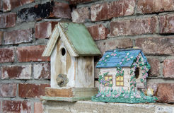 Old and New bird house Royalty Free Stock Photography