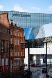 Old and New Birmingham stock photo