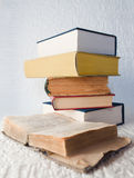 Old and new books Royalty Free Stock Photo