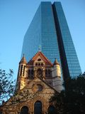 Old and new in Boston. Beautiful combination of old and new builds in Boston, USA Royalty Free Stock Photo