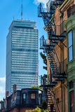 Old and new in Boston (vertical) Royalty Free Stock Image