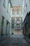 Old and new building contrast. In the city of Ghent, Belgium Royalty Free Stock Photos