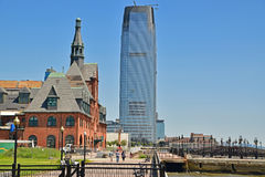 Old and New Building nearby Liberty State Park Jersey City Royalty Free Stock Photo