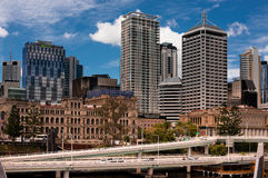 Old and new buildings in Brisbane. Riverside Buildings in Brisbane, Australia`s third largest city - home to at least 360 high-rise buildings, at least 70 high Royalty Free Stock Images