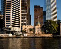 Old and new buildings in Brisbane. Riverside Buildings in Brisbane, Australia`s third largest city - home to at least 360 high-rise buildings, at least 70 high Stock Photo