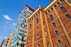 Old and new buildings in Düsseldorf Stock Photo