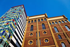 Old and new buildings in Düsseldorf Royalty Free Stock Photos