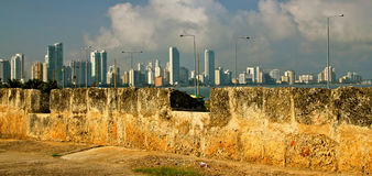 Old and New Cartagena Royalty Free Stock Photo