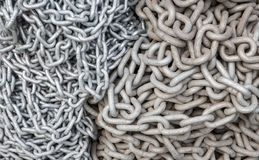 Old and new chains background Stock Image