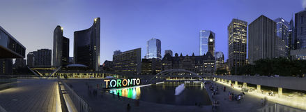 The Old&New City Halls(Toronto) Stock Image