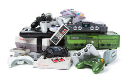 The Old and New of Console Gaming Royalty Free Stock Image