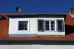 Old and new dormer Royalty Free Stock Images