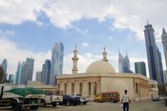 Old and new Dubai contrast Royalty Free Stock Image