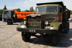Old and new, dump trucks KAMAZ Royalty Free Stock Images