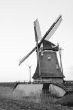 Old and new dutch windmill Royalty Free Stock Images