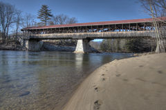 Old new england covered bridge Stock Photos