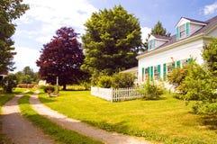 Old New England farm house royalty free stock photo